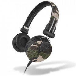 MELICONI 497392 MYSOUND SPEAK DENIM CAMOUFLAGE ON-EAR STEREO HEADPHONE (WITH MIC