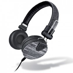MELICONI MYSOUND SPEAK DENIM BLACK ON-EAR STEREO HEADPHONE (WITH MICROPHONE)