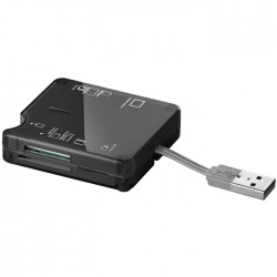 95674 All-IN-ONE CARD READER 6 SLOTS USB 2.0 BLACK COLOUR