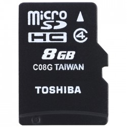 TOS MICROSD 8GB M102 CLASS 4 WITH ADAPTER NEW / THN-M102K0080M2