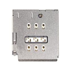 Βάση κάρτας SIM - SIM Card Tray with waterproof rubber ring White