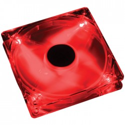 AKASA 274CR-4RDS 12CM CRYSTAL RED W/4 RED LED FAN - SLEEVE
