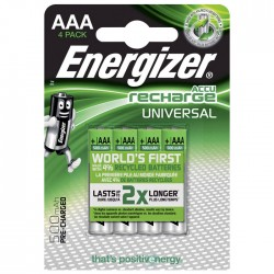 ENERGIZER AAA-HR03/500mAh/4TEM UNIVERSAL RECHARGEABLE  F016555