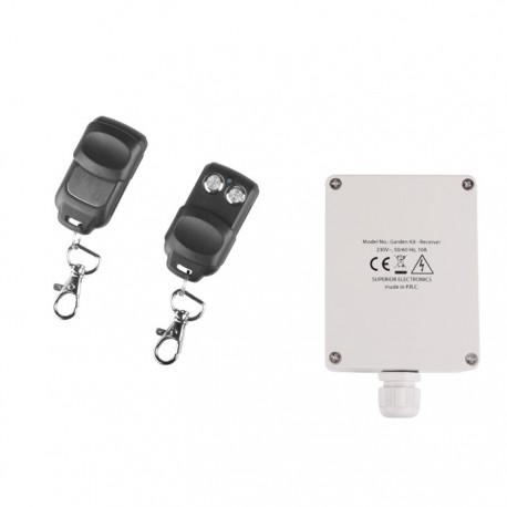 SUPERIOR GARDEN KIT RECEIVER WITH 2 REMOTE 433,92MHz