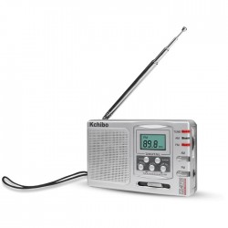 KCHIBO KK-9702 BAND DIGITAL RADIO SILVER