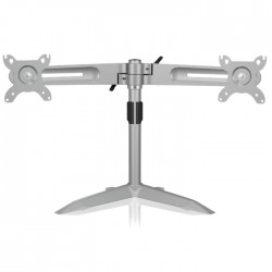 "IB-AC638 DUAL MONITOR STAND UP TO 24"" SILVER /70557"