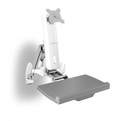 ICY BOX IB-MS600-W WALL MOUNTED SIT-STAND WORKSTATION DISPLAY  UP TO 24  (61cm)