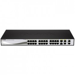 D-LINK DGS-1210-28 GIGABIT METRO ETHERNET 24-PORT+4 SFP PORT SWITCH (RACKMOUNT)