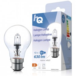 LAMP HQH B22 CLAS 003 Halogen lamp classic GLS B22 42 W 630 lm 2800K