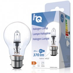 LAMP HQH B22 CLAS 002 Halogen lamp classic GLS B22 28 W 370 lm 2800K