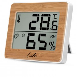 LIFE WES-107 Thermometer with hygrometer, Bamboo