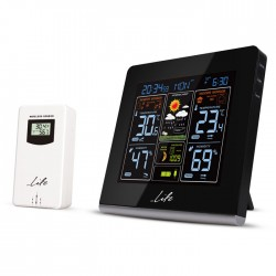 LIFE WES-301VA Weather station with adaptor & wireless outdoor sensor,clock& ala