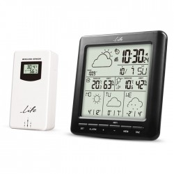 LIFE WES-400 Wi-Fi Weather station with wireless outdoor sensor,clock& alarm fun