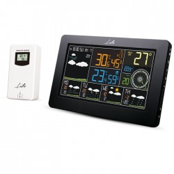 LIFE WES-401 Wi-Fi Weather station with wireless outdoor sensor,clock& alarm fun