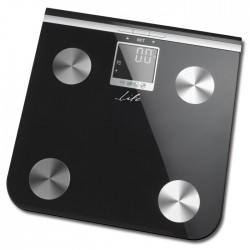 LIFE BSC-100 Body fat scale,black glass surface