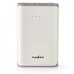 NEDIS UPBK7500WT Power Bank, 7500 mAh, 2-USB-A outputs 3.1A, Micro USB input, Wh