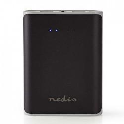 NEDIS UPBK10000BK Power Bank, 10000 mAh, 2-USB-A outputs 3.1A, Micro USB input,
