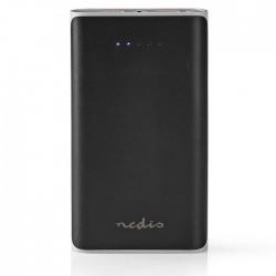 NEDIS UPBK15000BK Power Bank, 15000 mAh, 2-USB-A outputs 3.1A, Micro USB input,