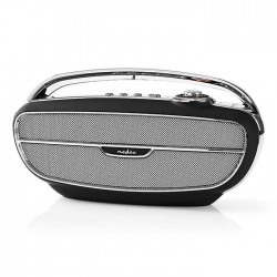 NEDIS RDFM5300BK FM Radio, 60 W, Bluetooth, Black / Silver