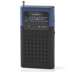 NEDIS RDFM1100BU FM Radio, 1.5 W, Pocket Size, Black / Blue