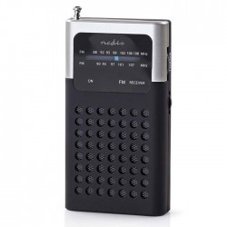 NEDIS RDFM1100GY FM Radio, 1.5 W, Pocket Size, Black / Grey