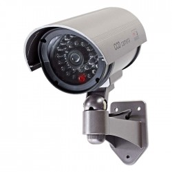 NEDIS DUMCB40GY Dummy Security Camera, Bullet, IP44, Grey