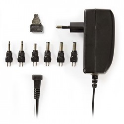 NEDIS ACPA003 Universal AC Power Adapter, 9.0/12/13.5/15/18/20/24 VDC, 1A - 1.5A