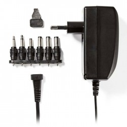 NEDIS ACPA007 Universal AC Power Adapter, 3/4.5/6/7.5/9/12 VDC, 2.25 A