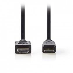 NEDIS CVGP34500BK15 High Speed HDMI Cable with Ethernet, HDMI - HDMI Mini, 1.5m,