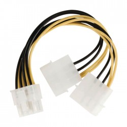 NEDIS CCGP74400VA015 Internal Power Cable, EPS 8-pin Male - 2x Molex Male, 0.15m