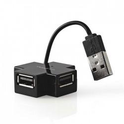 NEDIS UHUBU2400BK USB Hub, 4-Port, USB 2.0