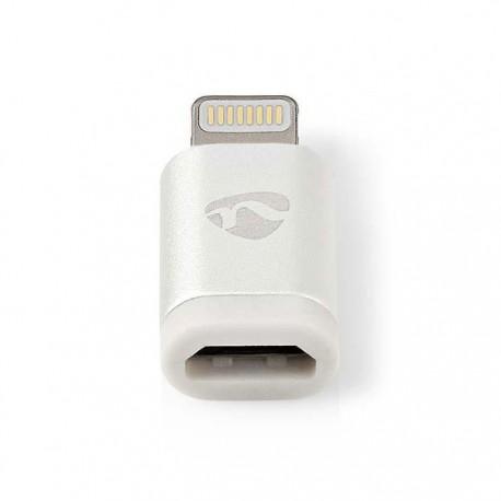NEDIS CCTB39901AL Apple Lightning Adapter, Apple Lightning 8-pin Male - USB Micr