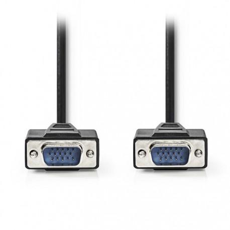 NEDIS CCGP59000BK150 VGA Cable, VGA Male - VGA Male, 15m, Black