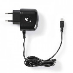 NEDIS WCHAM100ABK Wall Charger, 1.0A, Fixed cable, Micro USB, Black