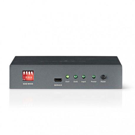 NEDIS VSPL3402AT HDMI Splitter | 2-port - 1x HDMI input, 2x HDMI ouput