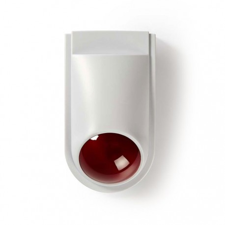 NEDIS DUMSS10WT Dummy Security Siren, IP44, White / Red