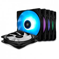 DEEPCOOL RF 120M 5 ΙΝ 1 RGB COOLING FAN 120mm BLACK