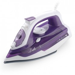 LIFE SI-100 Steam Iron 2400W with ceramic soleplate,2.50m,purple