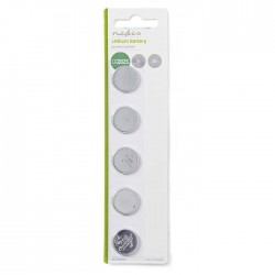 NEDIS BALCR20255BL Lithium Button Cell Battery CR2025, 3 V, 5 pieces, Blister