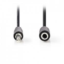NEDIS CAGP22050BK100 Stereo Audio Cable, 3.5 mm Male - 3.5 mm Female, 10m, Black