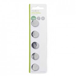 NEDIS BALCR20325BL Lithium Button Cell Battery CR2032, 3V, 5 pieces, Blister