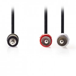 NEDIS CAGP22200BK30 Stereo Audio Cable, 3.5 mm Male - 2x RCA Male, 3m, Black