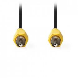 NEDIS CVGP24100BK50 Composite Video Cable, RCA Male - RCA Male, 5m, Black