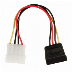 NEDIS CCGP73500VA015 Internal Power Cable, Molex Male - SATA 15-pin Female, 0.15