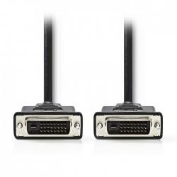 NEDIS CCGP32000BK20 DVI Cable, DVI-D 24+1-Pin Male - DVI-D 24+1-Pin Male , 2m, B