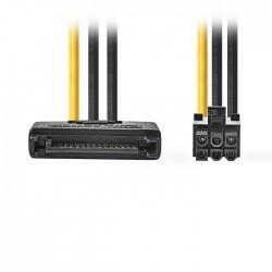 NEDIS CCGP74200VA015 Internal Power Cable, SATA 15-pin Male - PCI Express Female