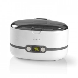NEDIS JECL110WT Ultrasonic Jewellery Cleaner, 600 ml Capacity, Digital Timer