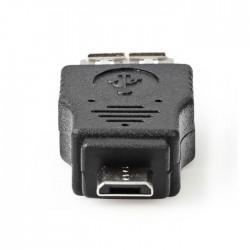 NEDIS CCGP60901BK USB 2.0 Adapter, Micro B Male - A Female, Black