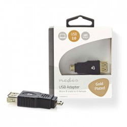 NEDIS CCBW60901AT USB 2.0 Adapter, Micro B Male - A Female