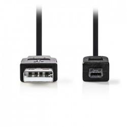 NEDIS CCGP60200BK20 USB 2.0 Cable A Male - Hirose Mini 4-pin Male, 2m, Black